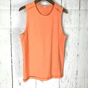 Lululemon Athletics orange sleeveless tank top